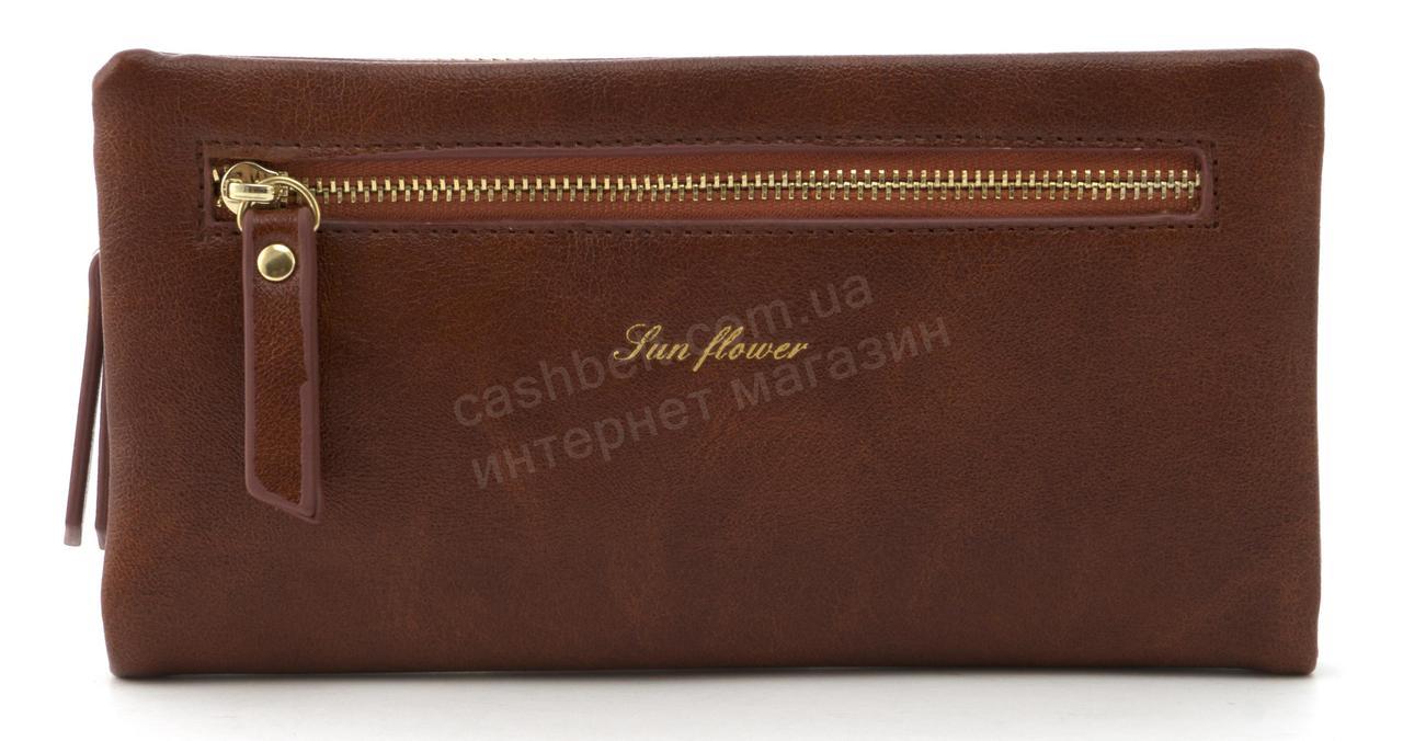 Стильный прочный удобный женский кошелек барсетка высокого качества Saralyn art. J-1065 коричневый
