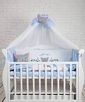 Детский постельный комплект Dckids CUTE CAT БК-017, синий