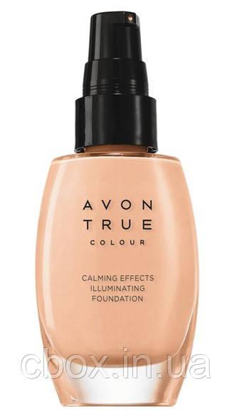 """Тональный крем для лица """"Спокойное сияние"""", Avon True Colour, Nude,натуральный, 67010"""