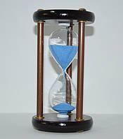 Часы песочные на деревянной подставке (15х8х8 см.), фото 1
