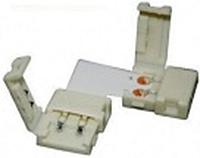 Коннектор для светодиодных лент OEM №19 8mm 2зажима +плата угол
