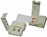 Коннектор для светодиодных лент OEM SC-20-SS-10-2 10mm 2 зажима +плата угол, фото 3