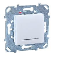 Выключатель с подсветкой Белый Unica Schneider, MGU5.201.18NZD
