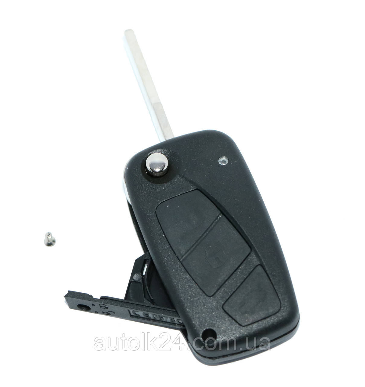Корпус выкидного ключа Fiat Ducato,PUNTO,Doblo,Bravo 3 кнопки, лезо SIP22