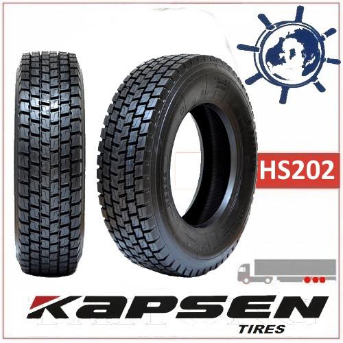 Шина 315/70R22.5 154/150L HS202 KAPSEN ведуча, грузовые шины на грузовик тяга