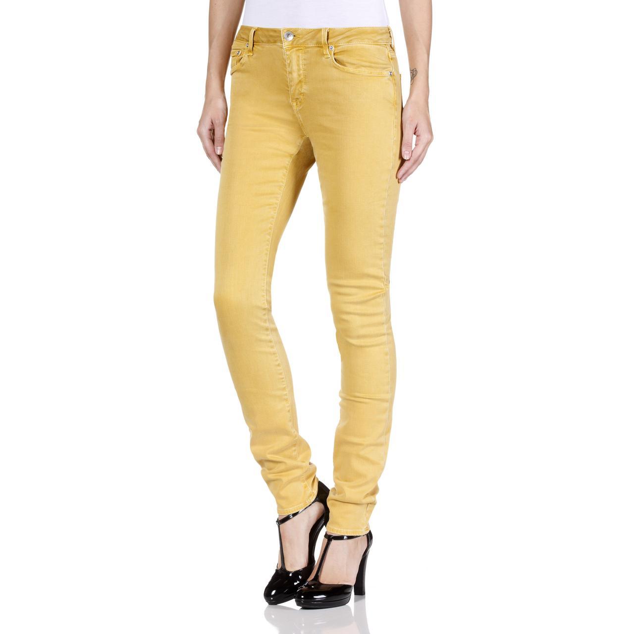 Женские модные джинсы Geox W3432G OCHRE
