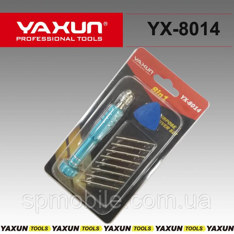 Отвертка с насадками YX-8014  8 в 1