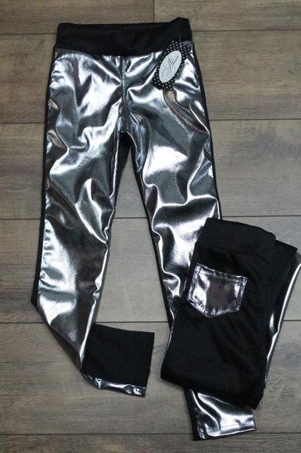 Леггинсы для девочки Серебро Размер 140 см, 146 см