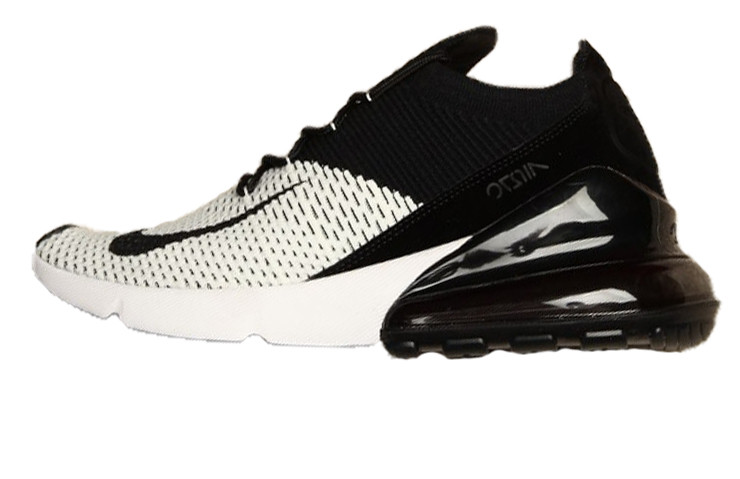 549a74d8111b2 Мужские кроссовки Nike Air Max 270 Flyknit Black White (Реплика ААА+) ...