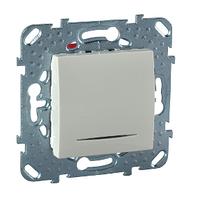 Выключатель с подсветкой Слоновая кость Unica Schneider Electric, MGU5.201.25NZD