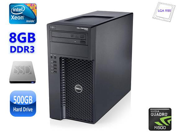 Рабочая станция DELL Precision T1650/E3-1225 v2/8GB DDR3/SSD/HDD500GB/Quadro K600, фото 2