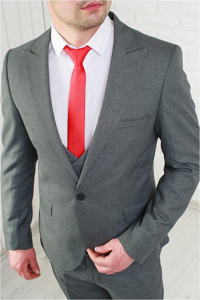 5d33ae6bf42ab Мужской классический костюм-тройка серый: продажа, цена в ...