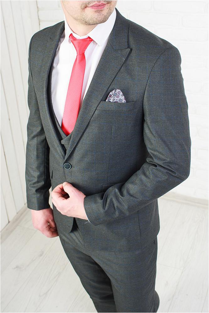 abdd4d319a64 Мужской классический костюм-тройка в клетку, цена 2 700 грн., купить ...