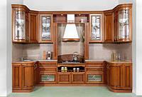 П-образная кухня из массива дерева фото 84