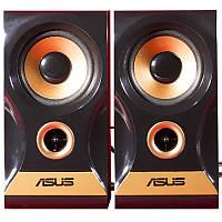 Мультимедийные колонки ASUS H619 черные для компьютера ноубука громкие с регулятором USB jack 3.5 музыкальные