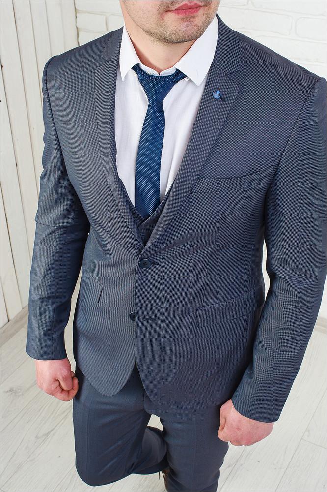 b95cb61968ca5 Мужской классический костюм-тройка серый, цена 2 700 грн., купить в ...