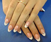 Нарощування нігтів френч, Салон-перукарня «Доміно» Львiв (Сихів)