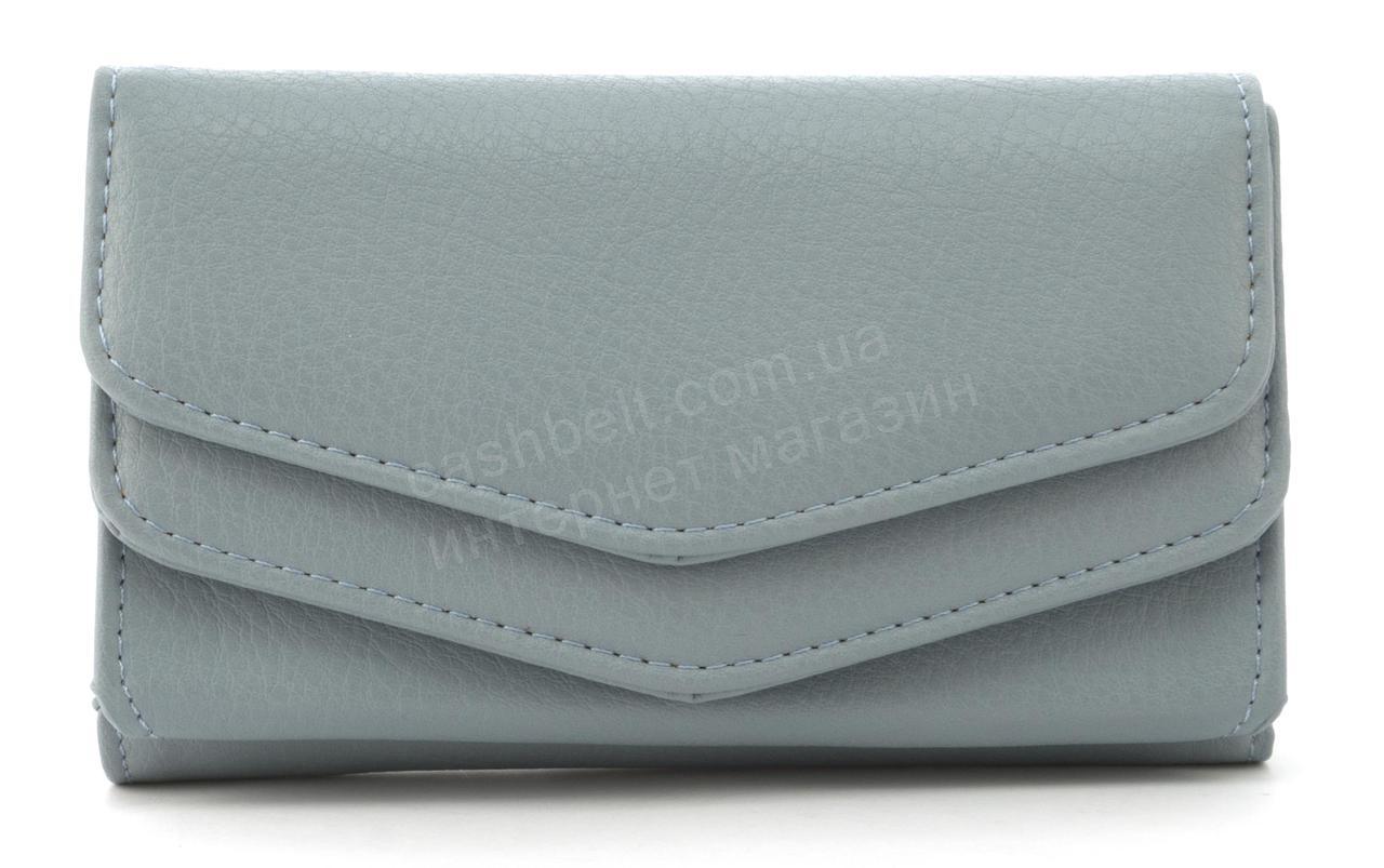 Женский компактный многофункциональный вместительный кошелек SARALYN art. Y-2033 голубой