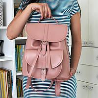 """Женский кожаный рюкзак """"Patsy"""" розовый, фото 1"""