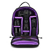 Рюкзак для фотоаппарата, сумка для фотоаппарата зеркального Purple