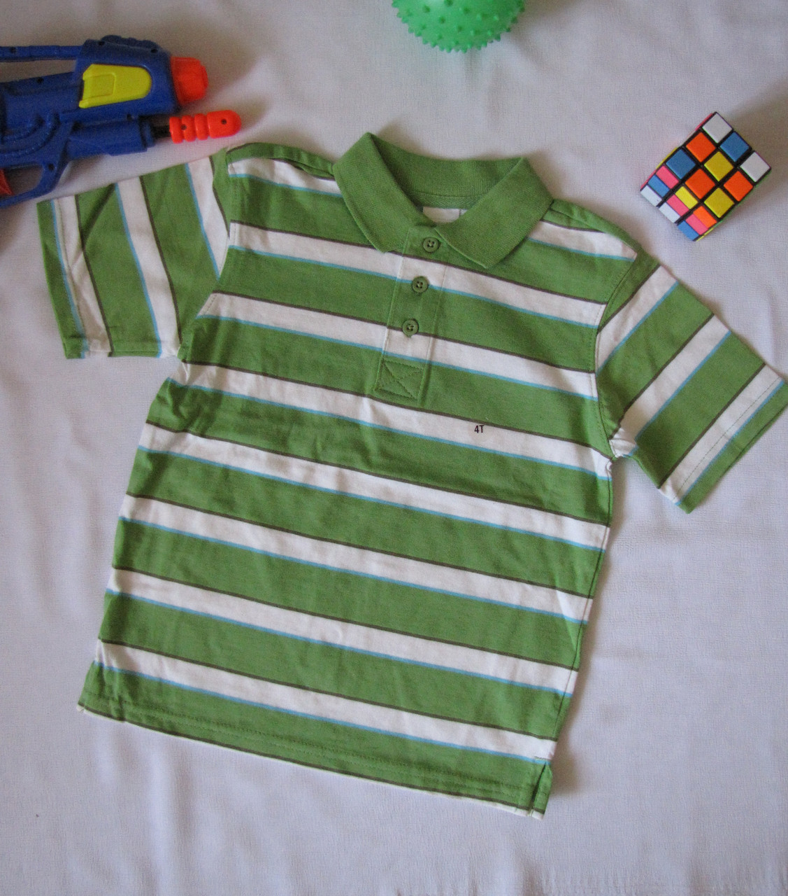 Футболка поло Wonder Kids оригинал рост 104 см зеленая 07121