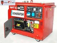 Генератор KrafTDele 9.8 кВт Germany Дизельный однофазный