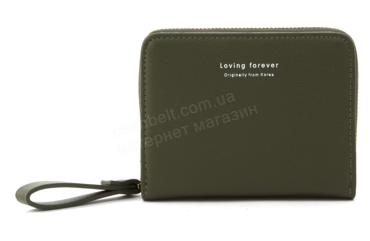 Женский компактный многофункциональный вместительный кошелек YA MEI art. P121 темно зеленый