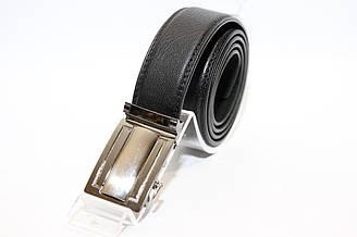 Пояс из кожзама, пряжка автомат серого цвета. Длина полотна 1150 мм. (11415)