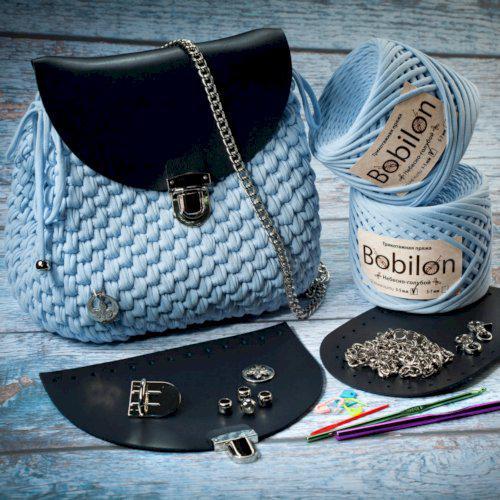 Набор конструктор для вязания рюкзака из трикотажной пряжи Бобилон. Большой выбор цветов и фурнитуры