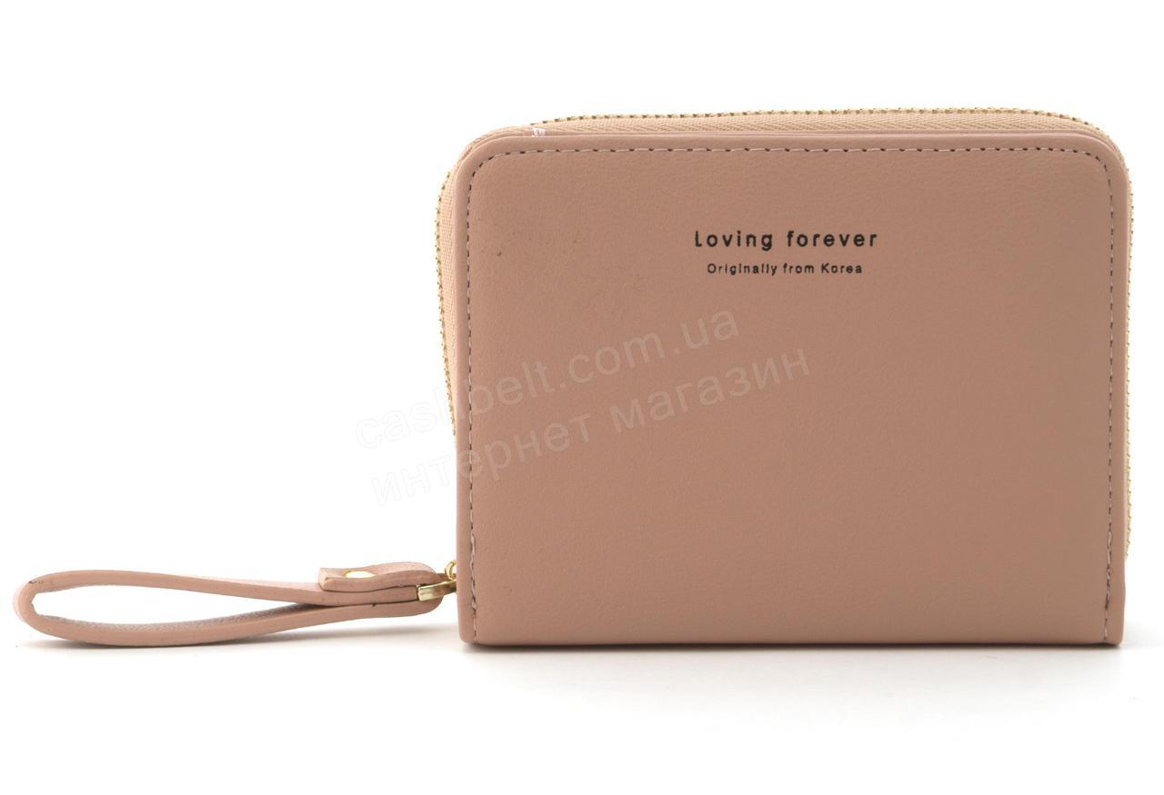 Женский компактный многофункциональный вместительный кошелек YA MEI art. P121 нежно розовый
