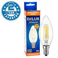 Светодиодная лампа эдисона DELUX BL37B 4 Вт 4000K 220В E14 filament (90011681)