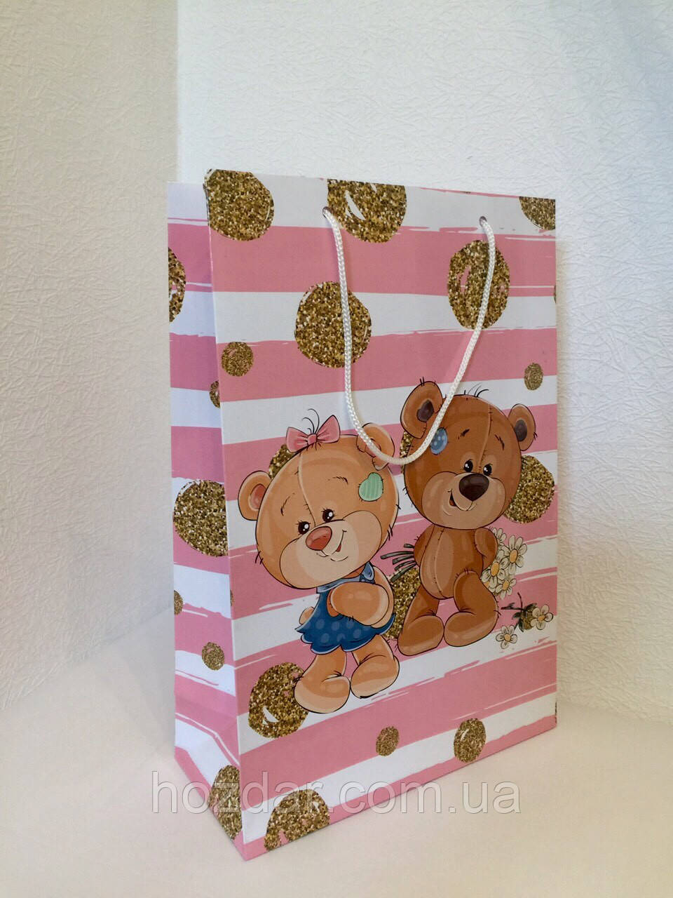 Пакет подарочный бумажный формат А 4 21х31х9 (30-004)