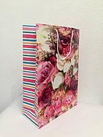 Пакет подарочный бумажный формат А 4 21х31х9 (30-007)