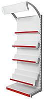 Торговый металлический стеллаж книжный 2350х950х530