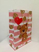 Пакет подарочный бумажный формат А 4 21х31х9 (30-013)