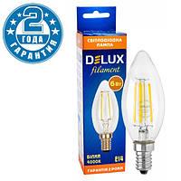 Светодиодная лампа эдисона DELUX BL37B 6 Вт 4000K 220В E14 filament (90011684)