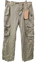 Светлые мужские летние брюки-карго Akademiks