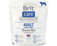 Корм Брит Кеа Лардж Brit Care Adult Large Breed Lamb для собак великих порід ягненак і рис 1кг