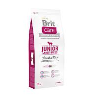 Корм Брит Кеа Юниор Brit Care Junior Large Breed Lamb Rice для щенков крупных пород ягненок рис 12кг