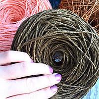Рафия соломка для вязания шляп и сумок цвета кофе