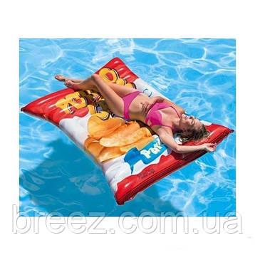 Надувной матрас-плот Intex Чипсы 178 х 140 см, фото 2