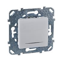 Выключатель проходной с подсветкой Белый Unica Schneider, MGU5.203.18NZD