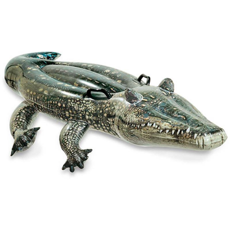 Надувной плотик с ручками-держателями Аллигатор Intex
