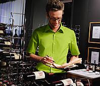 Рубашка официанта и бармена TEXSTYLE короткий рукав мужская зеленая