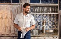Рубашка мужская TEXSTYLE сафари короткий рукав белая