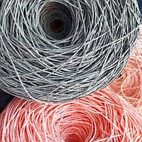 Рафия соломка для вязания шляп и сумок серый