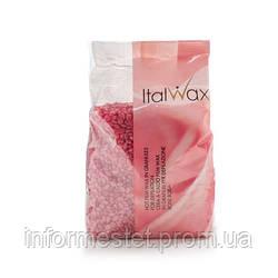 Воск в гранулах, теплый, пленочный  Роза (Винный) 1 кг ItalWax ( Итал Вакс) Италия