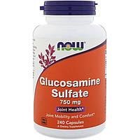 Now Foods, Глюкозамин сульфат, 750 мг, 240 капсул