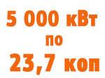 Теперь 5 000 кВт по 23,7 коп!