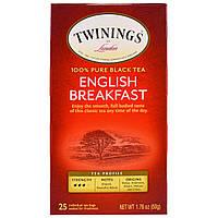 "Twinings, Чай ""Английский завтрак"", 25 пакетиков, 50 г (1.76 oz)"